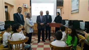 وكيل وزارة التربية والتعليم في بورسعيد يشهد دورى العباقرة وكرة القدم