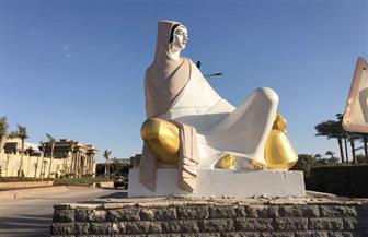تمثال الفلاحة المصرية بالحوامدية يستعيد رونقه بعد إزالة التشويه