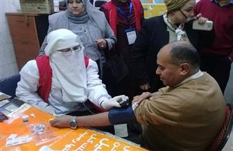 """رئيس مدينة سمنود يوقع الكشف الطبي ضمن مبادرة """" 100 مليون صحة""""   صور"""