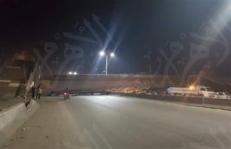"""سقوط كوبري مشاة بطريق """"القاهرة - الإسكندرية الزراعي"""" بالقليوبية  صور"""