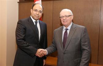 سفير مصر في أوتاوا يلتقى رئيس مجلس الشيوخ الكندي | صور