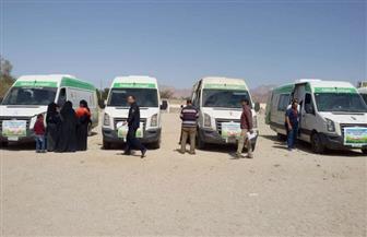 توقيع الكشف على 247 حالة بقافلة وادي ميعر بطور سيناء| صور