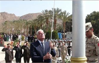 إيقاد شعلة النصر ورفع العلم في الذكرى الثلاثين لعودة طابا بجنوب سيناء