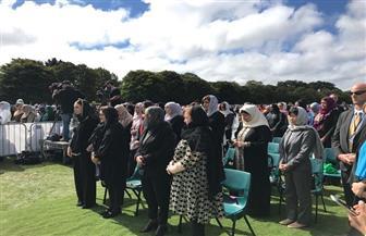 وزيرة الهجرة تشارك في المراسم الرسمية لجنازة شهداء حادث المسجدين بحضور رئيسة وزراء نيوزيلندا