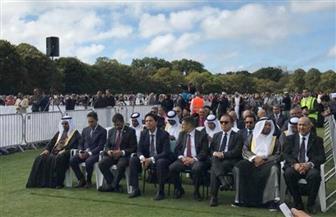 السفير المصري يشارك في مراسم دفن الشهداء المصريين بحادث المسجديّن | صور