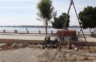 وزير الأثار يتفقد معبد كوم أمبو بعد انتهاء مشروع سحب المياه الجوفية من أسفل المعبد   صور
