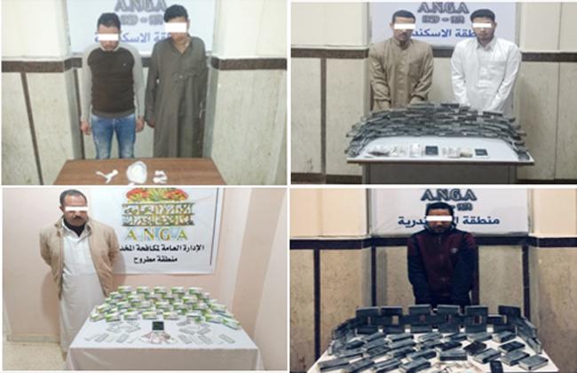سقوط تجار مخدرات بثلاث محافظات في قبضة الأمن  صور -