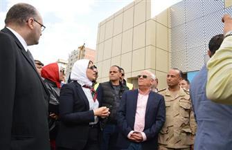 وزيرة الصحة تتفقد مستشفى بورسعيد العام لبحث أعمال تطوير المنشآت الصحية| صور