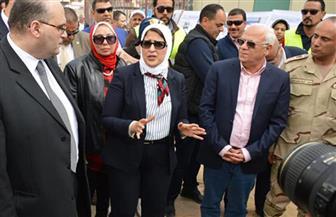 وزيرة الصحة توجه بسرعة الانتهاء من أعمال تطوير مستشفى بورسعيد العام