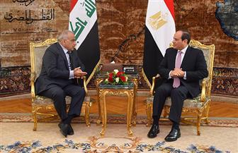 ننشر نص كلمة الرئيس السيسي في المؤتمر الصحفي المشترك مع رئيس وزراء العراق