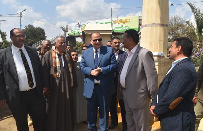 افتتاح أعمال تطوير مدخل قرية بيهمو وتطوير ممشى قارون بالفيوم |صور
