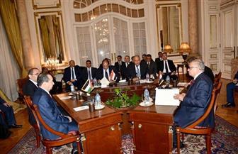 بدء جلسة مباحثات وزيري خارجية مصر وسويسرا | صور