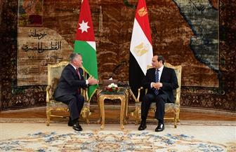 الرئيس السيسي يؤكد الحرص على استمرار التنسيق والتشاور بين مصر والأردن | صور