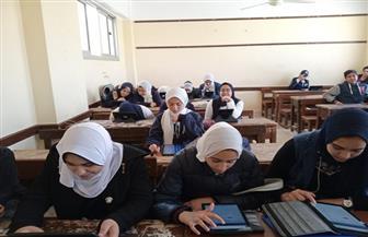 وكيل تعليم دمياط يتابع الاختبار الإلكتروني للصف الأول الثانوي بمدارس المحافظة |صور