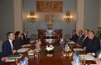 وزير الخارجية يعقد مباحثات مع نظيره السويسري