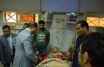 عزيز يتابع سير العمل بمستشفى سوهاج الجامعي