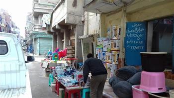 حملات لإزالة الإشغالات بمدينة كفرالشيخ | صور