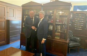 لقاءات مكثفة لوزير الخارجية مع أعضاء الكونجرس الأمريكي بمجلسيه