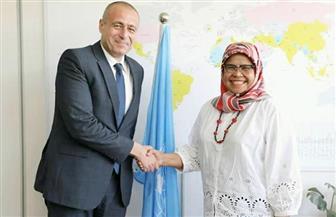 """سفير مصر في كينيا يلتقى وكيل السكرتير العام للأمم المتحدة والمدير التنفيذي لبرنامج """"الهابيتات"""""""