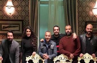 """ياسمين صبري وأحمد حاتم في كواليس مسلسل """"حكايتي"""""""