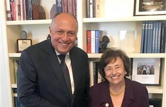 سامح شكري يلتقى رئيسة لجنة الاعتمادات بمجلس النواب الأمريكى