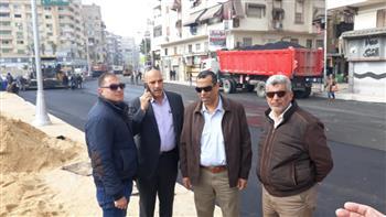 أبو زهرة يتفقد أعمال رفع كفاءة وتطوير شارع محمد علي