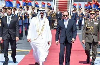 الرئيس السيسي يستقبل ولى عهد أبوظبى ببرج العرب| صور