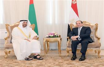 الرئيس السيسي يجرى مباحثات ثنائية موسعة مع ولي عهد أبوظبي  بقصر رأس التين بالإسكندرية