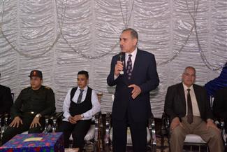 محافظ أسيوط يشهد حفل زفاف مجند أحد مصابى عمليات حق الشهيد بسيناء| صور