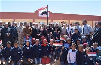 القوات المسلحة تفتتح مدرستين للتعليم الأساسي لخدمة التجمعات البدوية والنائية بنطاق سانت كاترين