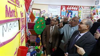 """تعليم بورسعيد يفتتح معرض مادة """"الرياضيات"""" بمدرسة ابن خلدون"""