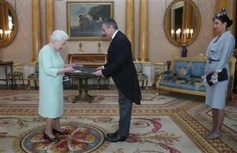 سفير مصر لدى المملكة المتحدة يقدم أوراق اعتماده للملكة إليزابيث الثانية   صور