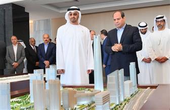 تفاصيل الجولة التفقدية للرئيس السيسي وولي عهد أبو ظبي بمدينة العلمين الجديدة