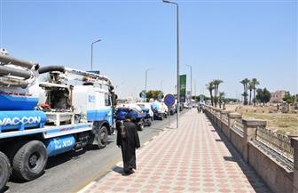 """انطلاق مسيرة سيارات المياه بشوارع الأقصر تحت شعار """"كل نقطة بتفرق""""   صور"""