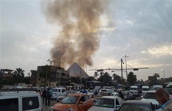 السيطرة على حريق هائل بمخلفات بالقرب من أهرامات الجيزة