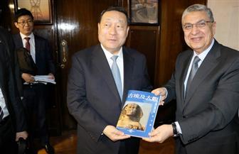 وزير الكهرباء يستقبل رئيس منظمة الربط الكهربائي العالمي   صور