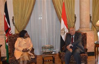 وزير الخارجية يبحث العلاقات الثنائية مع كينيا والتنسيق بين البلدين خلال رئاسة مصر للاتحاد الإفريقي | صور