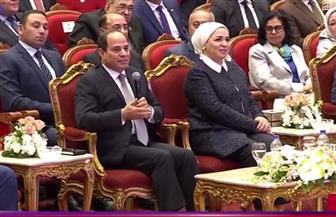 الرئيس السيسي: نقدر دور المرأة المصرية في نشر المحبة والسلام