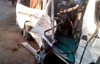 إصابة 5 في حادث تصادم بين سيارتين أجرة على طريق كفرالشيخ المحلة