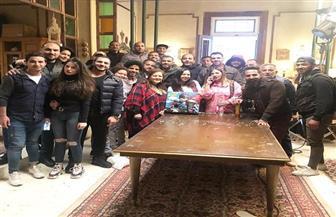 شاهد كيف احتفلت دنيا سمير غانم ودلال عبدالعزيز  بعيد ميلاد إيمي