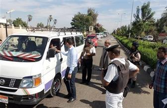 ضبط 52 سيارة سرفيس مخالفة في الجيزة