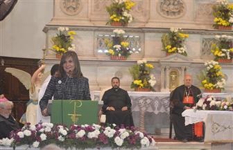 نيابة عن الرئيس السيسي.. وزيرة الهجرة تشارك في احتفال المئوية الثامنة لوجود الرهبان الفرنسيسكان بمصر | صور