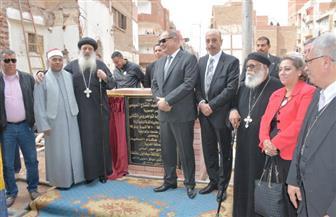 محافظ الغربية يضع حجر أساس كنيسة رئيس الملائكة ميخائيل بطنطا |صور