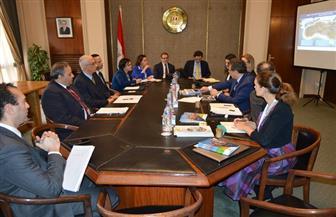 حمدي لوزا يستقبل نائب رئيس بنك التنمية الإفريقي في إطار متابعة الشراكة الإستراتيجية بين الجانبين | صور