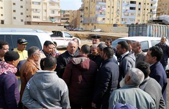 محافظ السويس يتابع سير العمل في الأحياء | صور