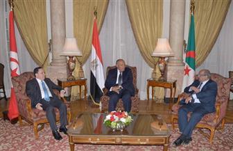 بدء اجتماع وزراء خارجية مصر وتونس والجزائر حول ليبيا