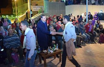 رئيس جامعة سوهاج يشارك طلاب المهرجان الكشفي بحفلة سمر |صور