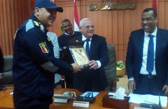 محافظ بورسعيد يهنئ الحماية المدنية باليوم العالمي للدفاع المدني | صور