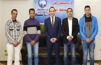 مستقبل وطن الجيزة يكرم 3 أبطال أنقذوا حياة المواطنين في حادث قطار محطة مصر