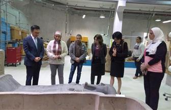 سفير كوريا الجنوبية بالقاهرة وقرينته يزوران المتحف المصري الكبير| صور